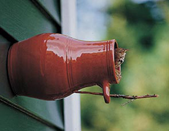 First American birdhouse - Bird bottle by Williamsburg Pottery used by colonialists in the 1700s.